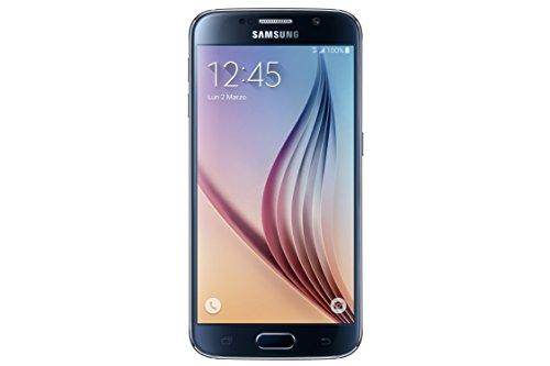 "Samsung Galaxy S6 - Smartphone Android de 5.1"" (cámara 16 Mp, 32 GB, Quad-Core 2.1 GHz, 3 GB RAM), negro - [importado de Italia]"