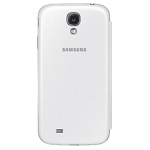 Samsung S-View - Funda para móvil Galaxy S4 (ventana frontal, teclas laterales), color blanco- Versión Extranjera