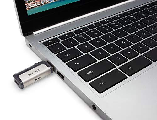 SanDisk Memoria Flash USB 128 GB para tu smartphone Android - Ultra Dual DriveType-C - USB 3.1, Black (SDDDC2-128G-G46)