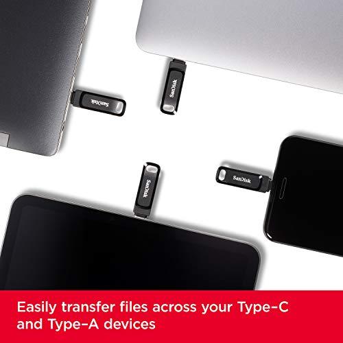 SanDisk Ultra Dual Drive Go para Dispositivos con USB Type-C, 64 GB, Negro