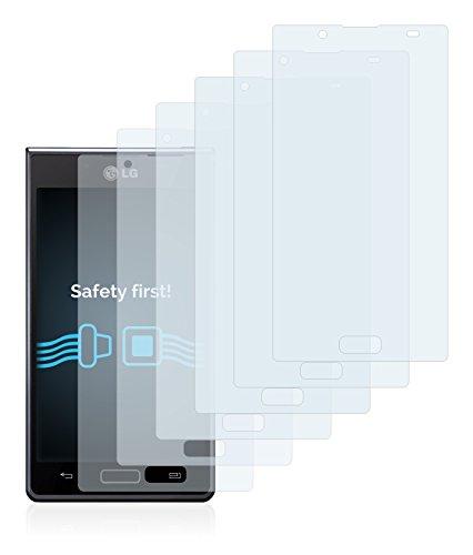 savvies Protector Pantalla Compatible con LG Electronics P700 Optimus L7 (6 Unidades) Pelicula Ultra Transparente