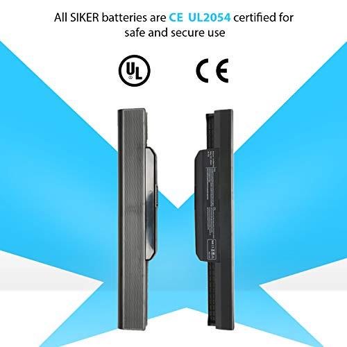 SIKER® 6 Celdas Portátiles Batería para ASUS K53 K53E X54C X53S X53 K53S Celular X53E 6, A32-A41-K53 K53