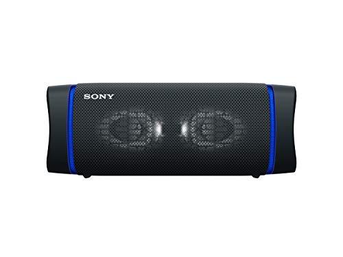 Sony SRS-XB33 - Altavoz Bluetooth Potente, con Luces, Extra Bass, Resistente al Agua, Polvo, óxido, Golpes y Larga duración de batería de hasta 24h, Negro