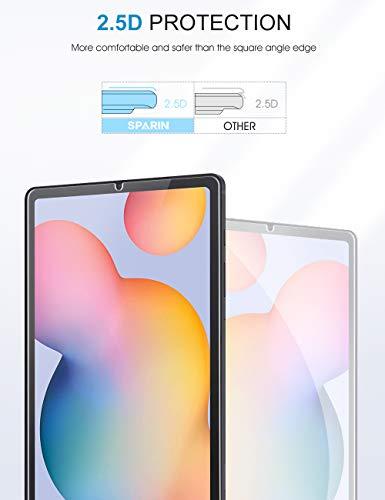 SPARIN [3 Piezas] Protector Pantalla Samsung Galaxy Tab S6 Lite, Cristal Templado Samsung Galaxy Tab S6 Lite 10.4 pulgadas, compatible con S Pen