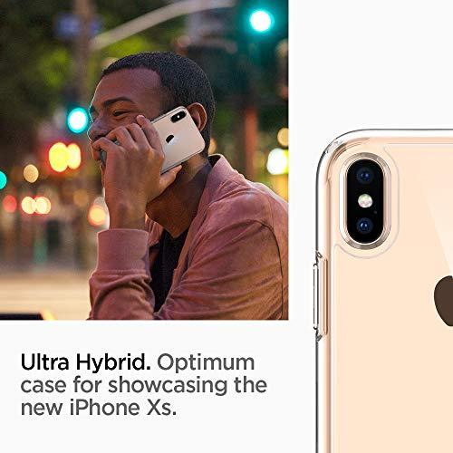 Spigen 057CS22127 Ultra Hybrid Funda para iPhone XS/X - Transparente