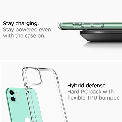 "Spigen Funda Ultra Hybrid Compatible con iPhone 11 (6.1"") 2019 - Transparente"