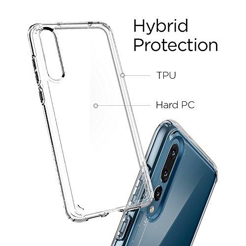 Spigen® [Ultra Hybrid Funda Huawei P20 Pro con Tecnología de cojín de Aire y protección híbrida de la Gota para Huawei P20 Pro (2018) - Transparente