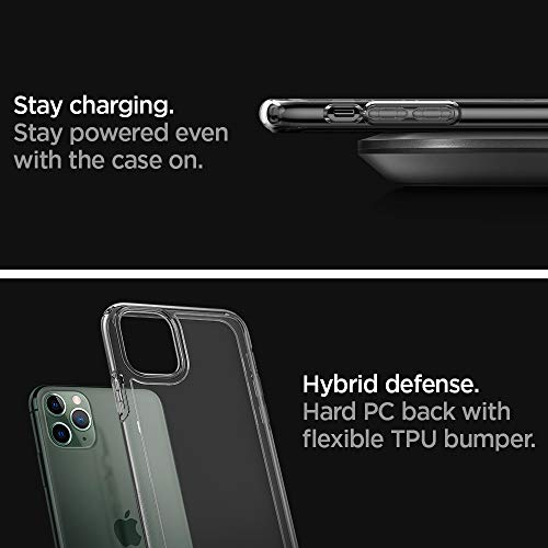 "Spigen Ultra Hybrid Funda iPhone 11 Pro, Compatible con Apple iPhone 11 Pro (5.8"") 2019 - Transparente"