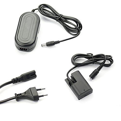 subtel® Fuente alimentación Compatible con Canon EOS 5D Mark II III IV 5DS 5DS R EOS 60D 6D Mark II EOS 70D 7D Mark II 90D EOS R Ra XC10 WFT-E5 -E7 AC-E6N DR-E6 ACK-E6 Cable Corriente Adaptador