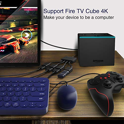 suyama Micro USB HUB Splitter, 4-Ports OTG Host Cable Cord USB 2.0 Adaptador para TV Cube, Raspberry Pi 2 3 Pi Zero Android Smart Phone Tablet Samsung