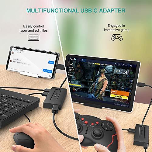 SUYAMA USB OTG Adaptador para TV Stick 4K,All-New TV (2017), Nintendo Classic Mini, Sony Playstation Classic - Adaptador Micro USB HUB con Fuente de alimentación