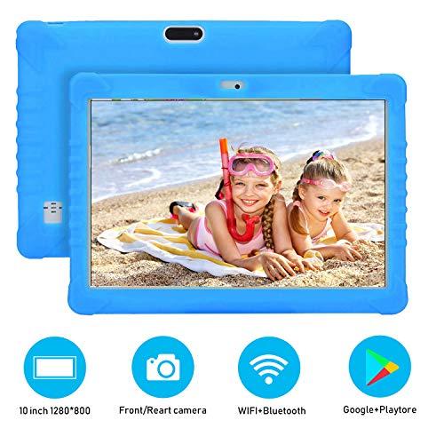 Tablet 10 Pulgadas 4G Full HD 3GB de RAM 32GB/128GB de ROM Android 9.0 Certificado por Google GMS Quad Core Tableta Batería de 8500mAh Dual SIM 8MP Cámara Tablet PC Netfilx WiFi Bluetooth OTG(Azul)