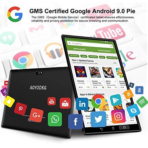 Tablet 10 Pulgadas 4G/WiFi Android 9.0 Pie Ultrar-Rápido Tablets 3GB RAM + 32GB ROM/128GB Escalable | Laptop Convertible de Oficina | Dual SIM -8000mA Bluetooth5.0 GPS Tablet (5+8.0MP Cámara)