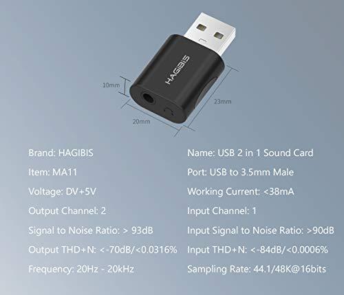 Tarjeta De Sonido Externa USB, Adaptador Jack A USB, USB A 3,5mm Jacks Auriculares, Micrófono Y Adaptador Audio Estéreo De Micrófono Para Windows Mac Portátil Ordenador PS4 Puerto Roto