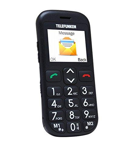 """Telefunken TM 110 COSI 1.77"""" - Teléfono móvil (SIM única, Despertador, calculadora, calendario, Grabadora, Ión de litio, GSM, Micro-USB, TFT), Negro"""