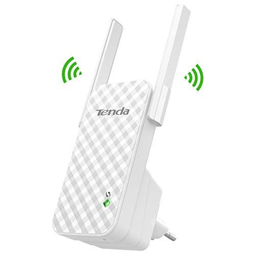 Tenda A9 N300 Extensor WiFi (repetidor de 300Mbps Red Cobertura WiFi inalambrico más de 200m², Compatible com Todos los routers)
