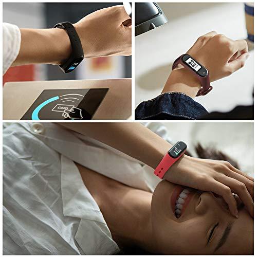 Th-some Bracelet pour Xiaomi Mi Band 4 / Mi Band 3, 6 Bracelets de remplacement Sport en Silicone Souple coloré, Bracelet en Silicone Souple remplaçable