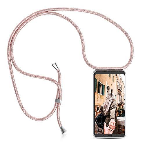 ToDo eu Carcasa de movil con Cuerda para Colgar Colgante movil Carcasa de móvil Samsung Galaxy A3 2017 - con Cordon para Llevar en el Cuello Collar de Banda de teléfono Celular Collar Celular