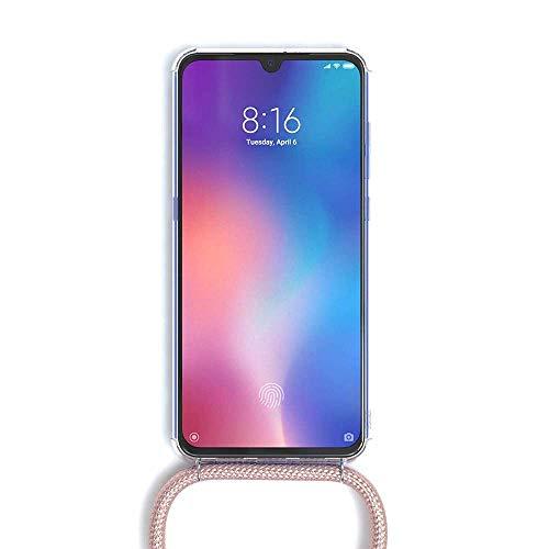 ToDo eu Carcasa de movil con Cuerda para Colgar Colgante movil Carcasa de móvil Xiaomi Mi A2 - con Cordon para Llevar en el Cuello Collar de Banda de teléfono Celular Collar Celular