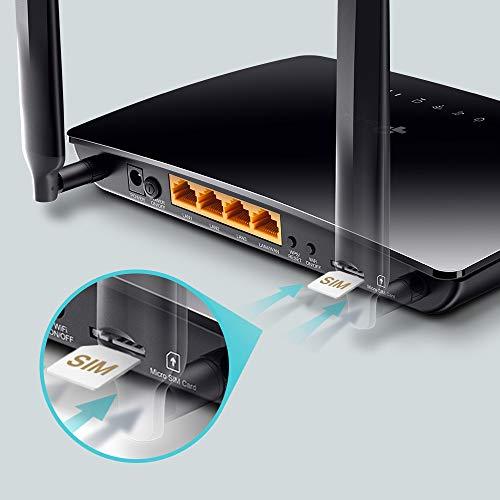 TP-Link TL-MR6400, Router 4G LTE (Cat 4), velocidad hasta 300Mpbs, MicroSim, Puerto Ethernet LAN/WAN, Antena desmontable,Sin Configuración