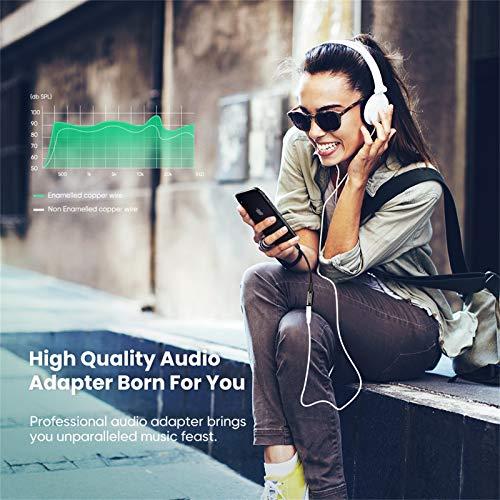 UGREEN Adaptador Auriculares iPhone, MFi Certificado Adaptador Lightning a Jack 3.5mm con Microfono, Convertidor Auriculares Compatible con iPhone 12 SE 2020 11 Pro XR XS Max 8 7, Todos los iOS, Plata
