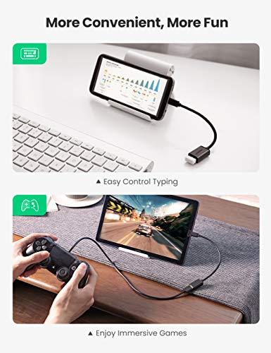 UGREEN Cable OTG Micro USB Android, Adaptador Micro USB 2.0 OTG Macho a Hembra Convertidor para Tablet Samsung Galaxy Tab S2, Teléfono Móvil, Cámara dji Spark, Grabadora de DVD etc, 2 Unidades