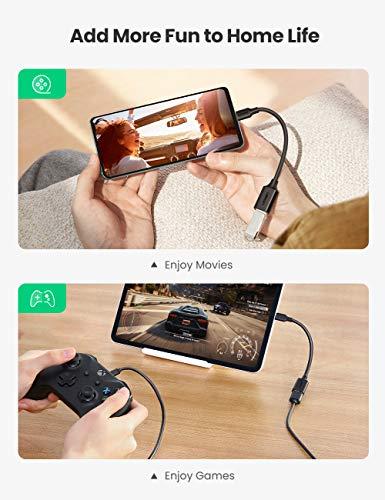 UGREEN Cable OTG USB C a USB 3.0 Adaptador OTG USB 3.1 Tipo C 5Gbps para Huawei P40 P30 Lite P20, Xiaomi Mi 10 Mi 9 A3 Redmi Note 8, Samsung S20 S10 Plus S9 S8 Note 10, iPad Pro 2018/2020 Macbook Pro
