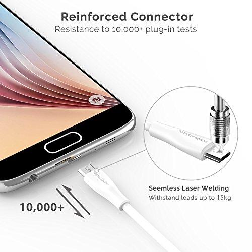 UNBREAKcable Cable Micro USB con Carga Rápida 1M Cargador Micro USB de Alta Velocidad para Dispositivos Android, Samsung Galaxy S7/S7 Edge/S6, Huawei, Sony, HTC etc
