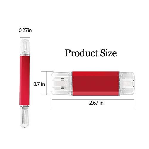 USB C Pendrive 32GB, 2 en 1 Memoria USB Tipo C 32GB OTG USB Flash Drive Memory Stick 32 GB para Portátil, Teléfono y Otras Dispositivos USB o Type C (Rojo)