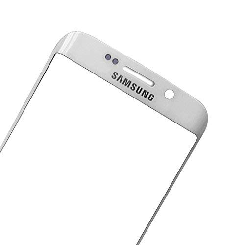 UU FIX Pantalla Cristal Frontal para para Samsung Galaxy S6 Edge Plus (Plata) LCD Touch Screen Frontal Cristal Replacment con Juego de la Herramientas