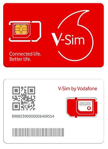 Vodafone v-sim, una Tarjeta sim Inteligente, Funciona para Dispositivos conectados por GPS (trakers GPS, cámaras de Seguridad, trakers para Mascotas.).