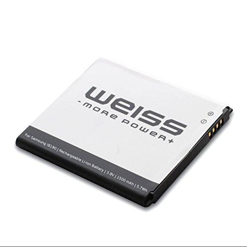Weiss - More Power + acumulador para Samsung Galaxy S3 Mini GT-I8190 / Ace 2 (GT-I8160 / GT-I8160P) / S Duos (GT-S7562 / GT-S7560) 1500mAh [reemplazado: EB425161LU / EBF1M7FLU / EB-B130BE] Li-Ion