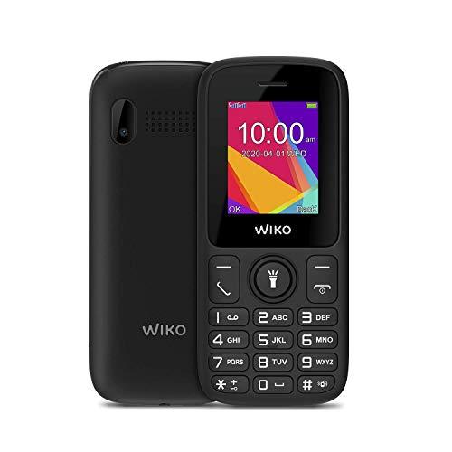 """Wiko F100 – Teléfono móvil Libre con Teclas de 1,8"""" (Dual SIM, batería de 800mAh para una Gran autonomía, Radio FM, Reproductor MP3, admite MicroSD, Linterna, Bluetooth, cámara Trasera) – Color Negro"""