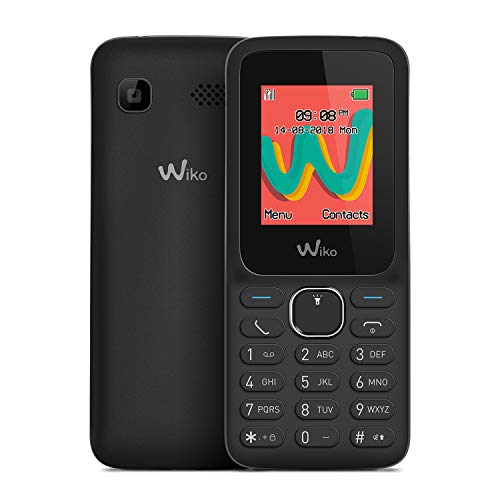 "WIKO Lubi5 Plus – Teléfono móvil Libre con Teclas de 1,8"" (Dual SIM, Radio FM, admite microSD, Bluetooth, Linterna LED y Reproductor MP3) – Color Negro"