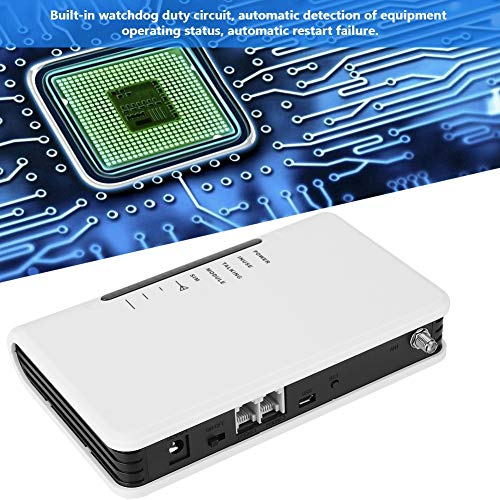 WirelessTerminal, terminal inalámbrico fijo Quad-band GSM 850/900/1800 / 1900MHz Alarma 100-240V para el hogar(EU)