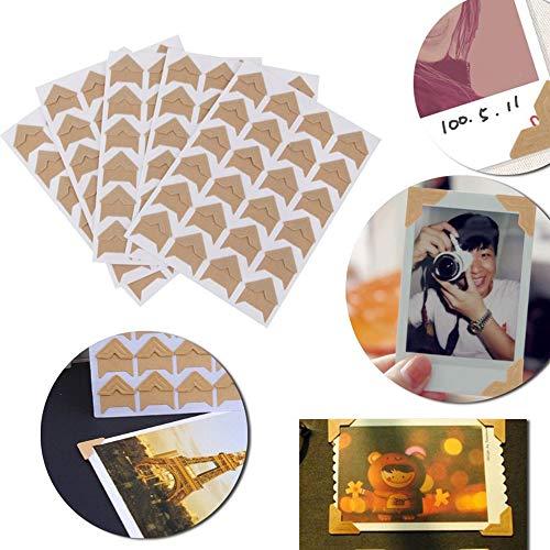 Wohlstand 10 hojas de esquinas de montaje de fotos,Esquinas de Foto Autoadhesivas,agenda personal,Álbum de Pictura, DIY Álbum de Recortes