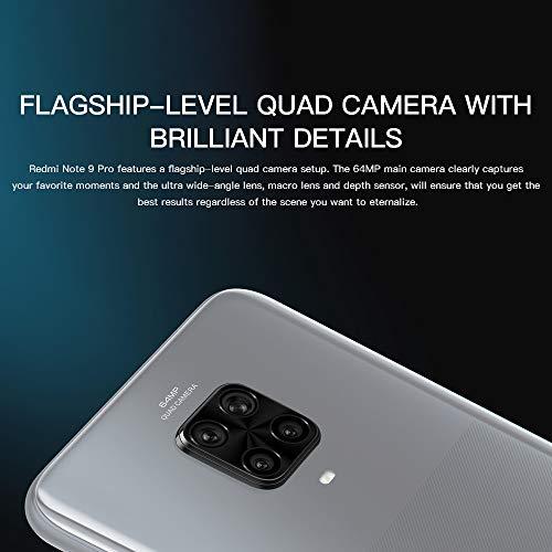 "Xiaomi Redmi Note 9 Pro Smartphone, 6GB RAM 128GB ROM, Pantalla de Puntos de 6.67"", Procesador Qualcomm Snapdragon 720G, Cámara Cuádruple AI (64MP + 8MP + 5MP + 2MP) Versión Global (Blanco)"