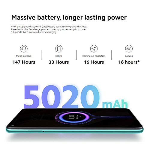 "Xiaomi Redmi Note 9 Smartphone 6.53"" FHD+ Display, 3GB/64GB, 4G, Dual Sim, Midnight grey [European Version]"