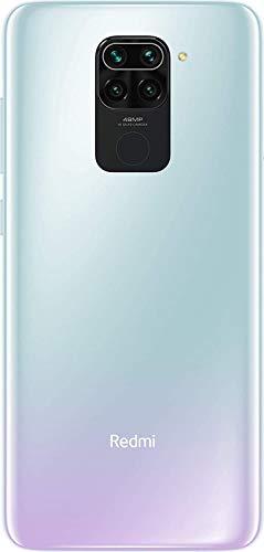 """Xiaomi Redmi Note 9 - Smartphone con Pantalla FHD+ de 6.53"""" DotDisplay (3 GB+64 GB, Cámara cuádruple de 48 MP con IA, MediaTek Helio G85, Batería de 5020 mAh, 18 W de Carga rápida), Blanco"""
