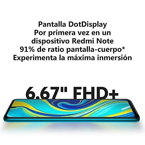 "Xiaomi Redmi Note 9S - Smartphone de 6.67"" FHD+ (DotDisplay, Snapdragon 720G, 4 GB RAM, 64 GB ROM, cámara cuádruple de 48 MP, bateria de 5020mAh) Glacier White [International Version]"