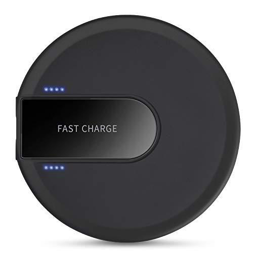 XLTOK Cargador Inalámbrico Rápido 10W, Fast Wireless Charger para iPhone XS/XS MAX/X / 8/8 Plus,Samsung Galaxy S9 Plus / S9 / S8 / Note 8(Negro)