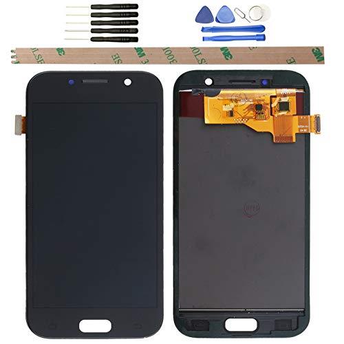 YHX-OU Pantalla LCD de Repuesto para Samsung Galaxy A5 A520 A520F 2017 LCDde reparación y sustitución LCD Pantalla táctil digitalizador + Herramientas (Negro)