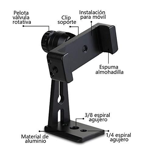 Zacro Soporte Móvil Trípode Multiángulo Soporte Vertical con Montura de Trípode para Teléfono de 5.6-8.9 Pulgadas