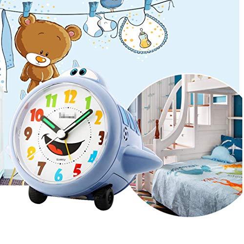 ZGYZ Regalos, Reloj Despertador para niños Reloj Despertador de Dormitorio Ruidoso con Pilas Reloj de cabecera sin tictac para niños Adultos, Orange_12 * 12.6 * 10cm