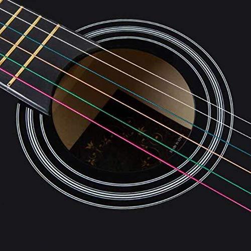 Zjcpow Guitarra acústica 6 Cuerdas de Alambre Str Baja D Sonido preciso el Juego fácil de Chapa de Madera Cutaway Superficie Lisa Práctica Uso, 10 Colores (Color: Naranja, Tamaño: 96cm) xuwuhz