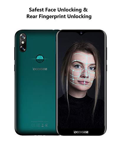 4G Telefono Movil Libres, DOOGEE Y8 Android 9.0 Smartphones Libres Dual Sim, 19:9 Pantalla 6.1'' 3Go RAM 16Go ROM, 3400mAh, Cámara Trasera Doble 8+5MP, Face ID+Huella Digital,Fantasma Violeta