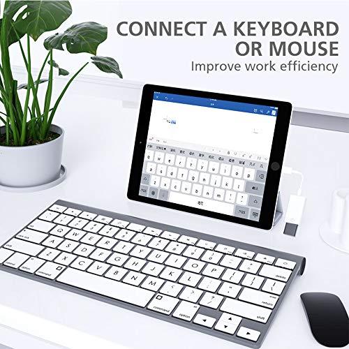 Adaptador de cámara USB, adaptador de cable de sincronización de datos OTG hembra USB 3.0 compatible con iPhone x 8 7/ iPad Air Pro Mini, lector de tarjetas de soporte, unidad flash USB,mouse,teclado