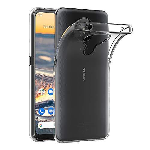 AICEK Funda Compatible Nokia 5.3, Transparente Silicona Fundas para Nokia 5.3 Carcasa Silicona Funda Case (6,55 Pulgadas)