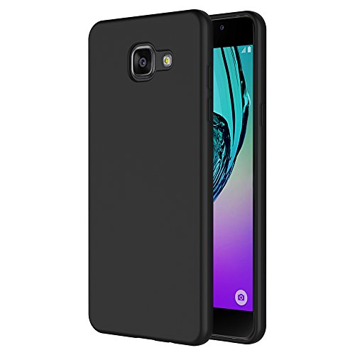 AICEK Funda Compatible Samsung Galaxy A5 2016, Negro Silicona Fundas para Galaxy A5 2016 Carcasa A510 (5,2 Pulgadas) Negro Silicona Funda Case