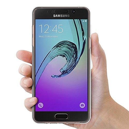 """AICEK Funda Samsung Galaxy A5 2016, Transparente Silicona 360°Full Body Fundas para Samsung A5 2016 Carcasa Silicona Funda Case (SM-A510F 5.2"""")"""